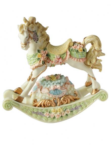 Musical Rocking Horse Figurine 15004